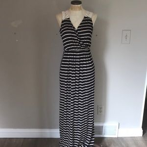 Dresses & Skirts - Navy and cream striped Maxi
